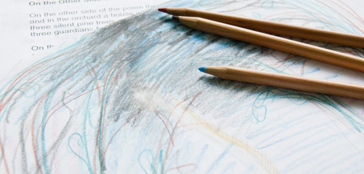 Interdisciplinary experientials invite students to integrate approaches, such as drawing a response to a poem.